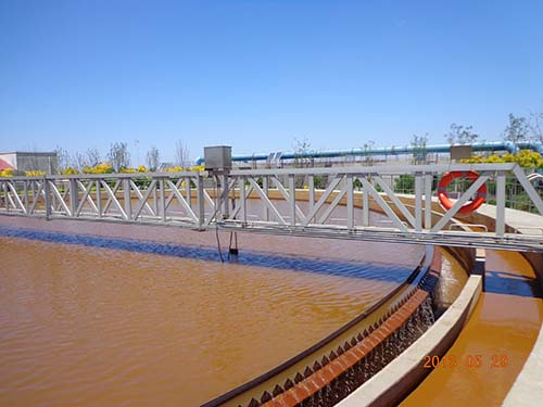 汉沽营城污水处理厂—污水沉淀池